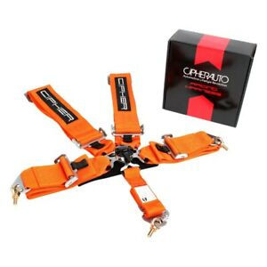 Cipher Auto Cpa4005or 5 point Camlock Racing Harness Orange