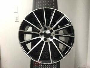 4 Set Of Brand New S550 Style 22 Amg Black Rims Wheels Fits Mercedes Benz