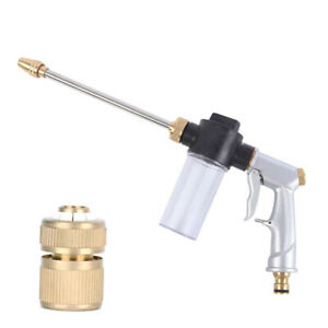 High Pressure Washer Gun Water Soap Spray Car Wash Cleaning Tool W Fittings Usa