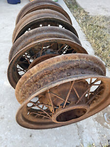 1920 Or 1930 Steel Car Rims