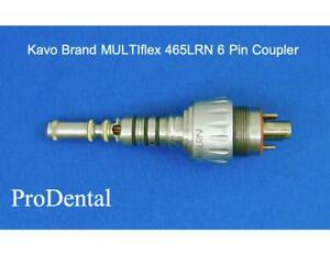 Kavo Brand Multiflex 465lrn 6 Pin Fiber optic Dental Handpiece Coupler