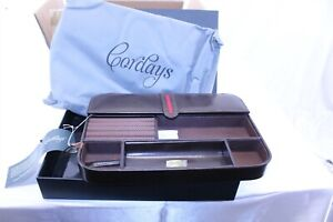 Desk Organizer Tray Leather With Multiple Sections By Cordays