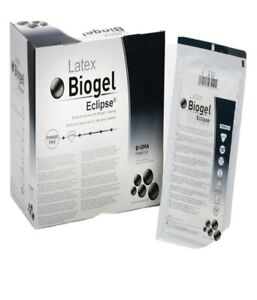 Biogel Eclipse Latex Surgical Gloves Size 6 5 8 5 or 9 50pairs box