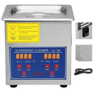 1 3l Commercial Ultrasonic Cleaner For Cleaning Eyeglasses Rings Large Capacity