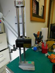 Mitutoyo 12 Digital Height Gage P n 192 605 001 12 W Carbide Tipped Scribe