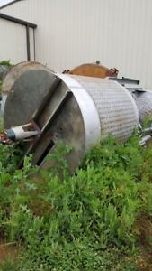 Used 1 200 Stainless Steel Dimple Jacketed Mix Tank