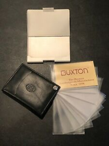 Business Card Holder And Buxton Leather Photo Holder