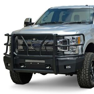 For Ford F 250 Super Duty 17 20 Bumper Elevation Series Full Width Black Front
