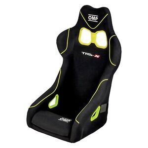Omp Ha 803 ngi Trs x Series Competition Seat Black W Flow Yellow Piping