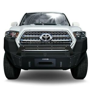For Toyota Tacoma 16 20 Br5 Replacement Full Width Black Front Winch Hd Bumper