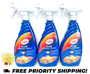 Turtle Wax Ice Synthetic Spray On Auto Car Wax Detailer 20 Oz 3 Pack
