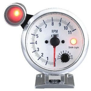 95 Mm 3 3 4 Inches Tachometer Gauge 0 11000 Rpm With Outside Shift Light