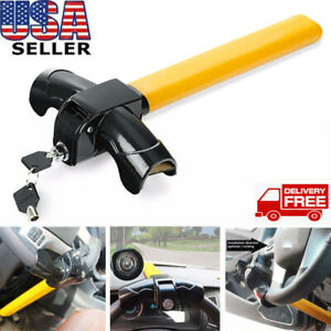 Universal Steering Wheel Lock Club To Pedal Car Anti Theft Truck Auto Van Trendy