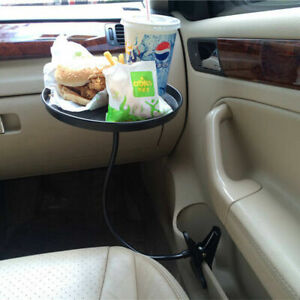 Black Car Table Cup Holder Organizer Accessories Food Tray For Bmw Audi Benz