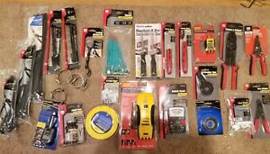 28 Pc Gardner Bender Lot Wire Ties Strippers Tape Battery Voltage Tester More