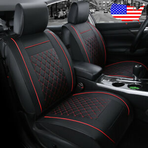 Black 5 Seat Car Auto Suv Leather Seat Covers Cushion For Vw Golf Jetta Passat