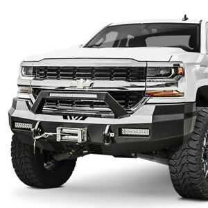 For Chevy Silverado 1500 Ld 19 Westin Hdx Full Width Black Front Winch Hd Bumper