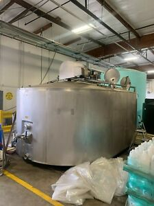 Damrow 4500 Gallon Double o Cheese Vat Stainless Steel Jacketed Tank W Mixers