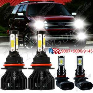 9007 9145 Led Headlight For Ford Expedition 1999 2000 2002 Hi lo Beam Foglight