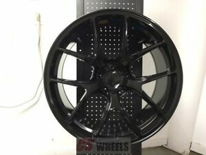 4 18 Vortex Gtr Style Gloss Black Concave Staggered Wheels Rims 5x114 3