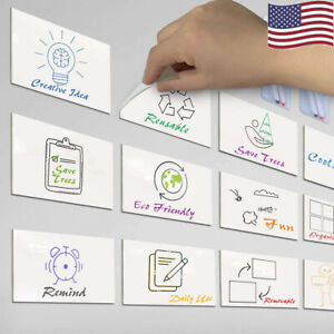 Dry Erase Sticky Notes Whiteboard Memo Notice Dry Wipe Adhesive Labels Sticker