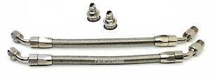 Braided Line Kit For Holley Or Mallory Fuel Pressure Regulators 3 8 Npt Silver