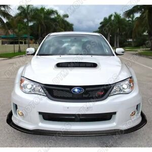For 2011 2014 Subaru Wrx Sti Cs2 style Carbon Look Front Bumper Body Spoiler Lip
