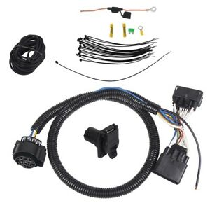 7 Way Trailer Wiring Harness Kit For 19 20 Ford Ranger Rv Round Connector