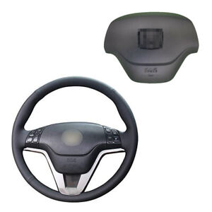 Steering Wheel Cover Driver Inflator Cover W Badge For 07 11 Honda Cr V Black