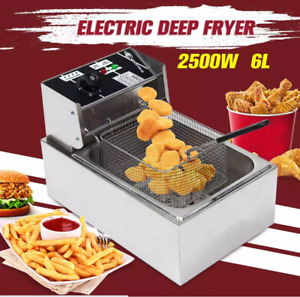 32l Electric Deep Fryer Dual Tank Stainless Steel 2 Fry Basket Commercial 5000w