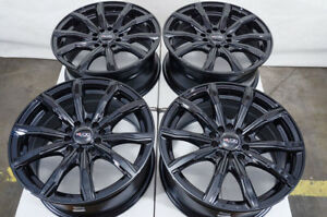16 Wheels Audi Tt Pt Cruiser Accord Civic Coupe Eclipse Lancer Black Rims 5 Lug