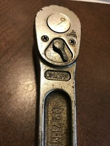 Vintage Snap On Tools Usa No 71m 1 2 Drive Ratchet 9 1 2 Inch Long 1958 Old Logo