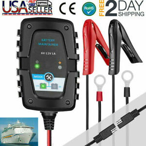 6v 12v 1 5a Battery Charger Maintainer Auto Trickle Charger For Harley Davidson