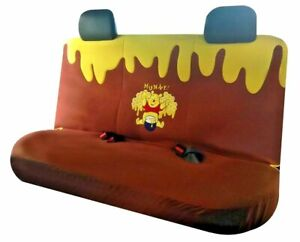 Winnie The Pooh Car Seat Cover Rear For Saloons Hatchbacks Official Pooh