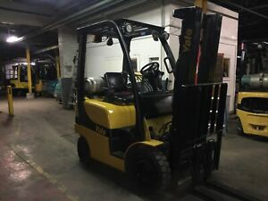 2016 Yale 3000 Lb Solid Pneumatic Forklift With Side Shift And Triple Mast