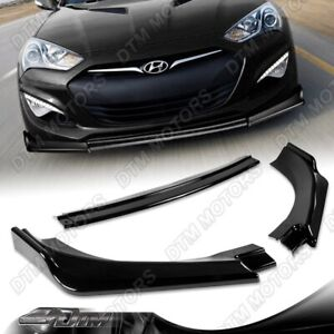 For 13 16 Hyundai Genesis Coupe Painted Black Ks style Front Bumper Spoiler Lip