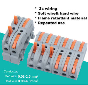 Universal Compact Wiring Terminal Push in Conductor Block Mini Fast Connector