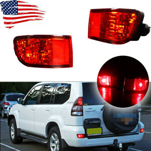 Led Tail Brake Stop Lights Red Lens Rear Fog Lamps For Toyota 4runner 2003 2005