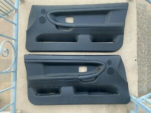 94 98 Bmw E36 Black Front And Rear Door Panels Coupe W Speakers 2 Oem Pair
