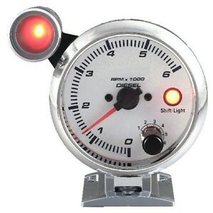 95 Mm 3 3 4 Inches Tachometer 0 6000 Rpm With Outside Shift Light For Diesel