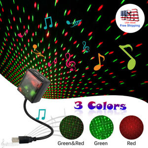 Car Roof Led Usb Star Light Romantic Starry Sky Projector Lamp Night Lights 360
