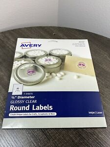 Avery Printable Self adhesive Permanent 3 4 Round Id Labels 3 4 dia Clear 320