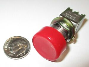 Push on Push off Push Button Switch Nkk Dpdt 6a 125vac On on Nos