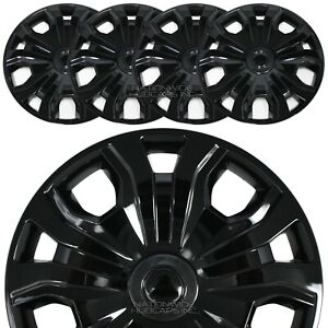 4 Fit Ford Transit Connect 2014 21 Cargo Van 16 Black Wheel Covers Rim Hub Caps