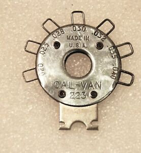 Cal Van 223 Pocket Spark Plug Gap Gauge Usa