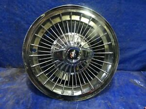 1965 1966 1967 Buick Lesabre Riviera 15 Inch Wire Spoke Spinner Hubcap