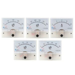 Analog Panel Amp Microamp Current Ammeter Meter Gauge 0 20a 0 50 a 500 a Dc