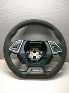 2016 2021 Camaro Ss Gm Non Heated Automatic Suede Steering Wheel Gray Stitching