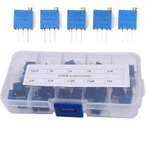 Variable Potentiometer Box With Assortment Trimmer Multi turn 3296w Resistor