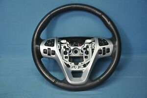 2012 Ford Explorer Limited 3 5l Awd 2 Driver Steering Wheel Black Leather Oem